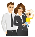 young businessmen with baby vector image