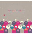 Christmas city of birds vector image