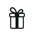 simple black icon of Present on white background vector image