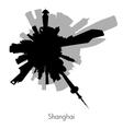 Shanghai circular skyline vector image