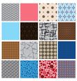 16 simple retro color seamless patterns eps10 vector image