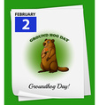 A poster showing the 2nd of February vector image