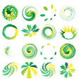 abstract elements set vector image vector image
