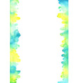 abstract yellow blue and green watercolor border vector image vector image