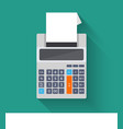 Adding counting machine flat vector image vector image