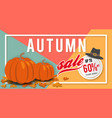 autumn sale banner background template design vector image vector image