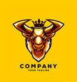 awesome bull king logo design vector image vector image