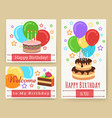 birthday greeting card templates for kids vector image vector image