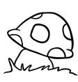 black and white mushroom vector image