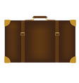 Brown travel bag vector image vector image