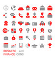 business icon set business icon set vector image vector image