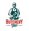 butcher emblem vector image