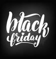 chalkboard blackboard lettering black friday vector image vector image