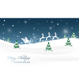 Christmas landscape with trees glitter snow and vector image
