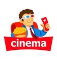 Cinema man logo vector image vector image
