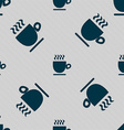 Coffee cup sign Seamless pattern with geometric vector image vector image