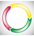 colorful circular arrow chart vector image vector image