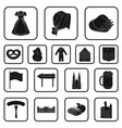 country germany black icons in set collection for vector image vector image