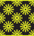 cute snowflakes seamless pattern on black vector image vector image
