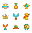 dearness icons set cartoon style vector image vector image