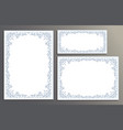 decorative frames for certificate template floral vector image vector image
