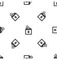 donation box pattern seamless black vector image vector image