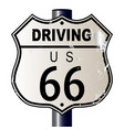 driving route 66 sign vector image vector image