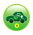 electric car or vehicle with green energy vector image vector image