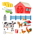 farm objects vector image vector image