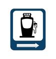 gasoline pump isolated icon design vector image vector image