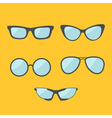 Glasses set Eyeglasses collection Isolated Icons vector image vector image