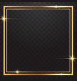 gold frames light in transparent background vector image vector image