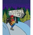 greeting card with of roosters vector image