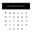 halloween icon set with outline design vector image