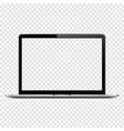 isolated laptop with transparent screen vector image vector image