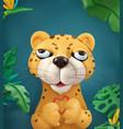 leopard cartoon character cute animals 3d art vector image vector image