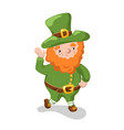 leprechaun isolated st patrick day character vector image