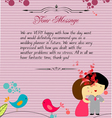 Letterhead valentines cardinal vector image vector image