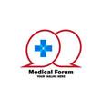 medical forum logo vector image vector image