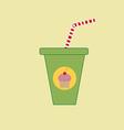 Milkshake drink cocktail icon vector image vector image