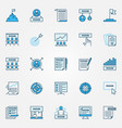 mission statement blue icons set business vector image
