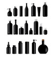 mock up realistic black bottles healthy vector image