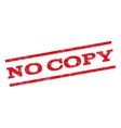 No Copy Watermark Stamp vector image vector image