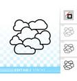 overcast simple black line icon vector image