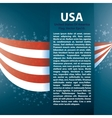 patriotic wave background with stripes stars vector image vector image