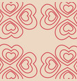 pattern decorative love background vector image vector image