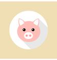 Pig flat design icon vector image