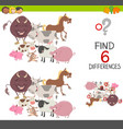 preachool finding differences game vector image vector image