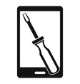 renovation phone icon simple style vector image vector image
