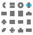 Road elements constructor icons set cartoon style vector image vector image